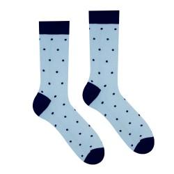 Veselé ponožky HESTY - Světlemodrý Gentleman