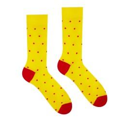 Veselé ponožky HESTY - Žlutý Gentleman