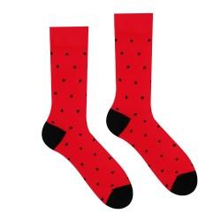 Veselé ponožky HESTY - Červený Gentleman