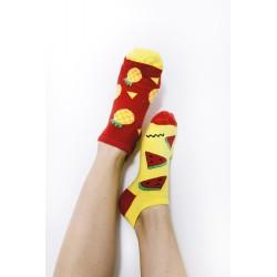 Veselé ponožky HESTY - Meloun a Ananas kotníkové