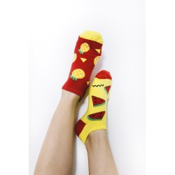 Veselé ponožky HESTY - Meloun a Ananas krátké