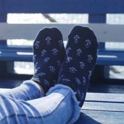 Veselé ponožky HESTY - Kotvička kotnikové
