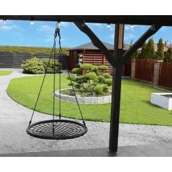 Kruhová houpačka síť 100cm čierna - HB9966