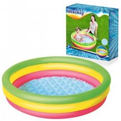 Barevný nafukovací dětský bazén 102x25cm - BESTWAY