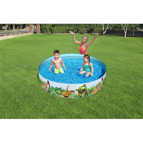 BA0195 BESTWAY Dětský bazén Jurský park 147x147x122cm BESTWAY