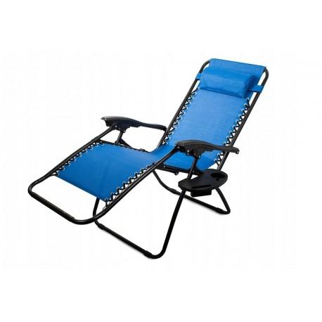 01428 DR Skládací plážové křeslo Modré