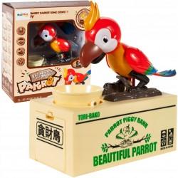 Pokladnička hladový papoušek