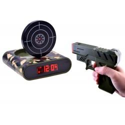 Budík s pistolí a terčem (ZA2486)