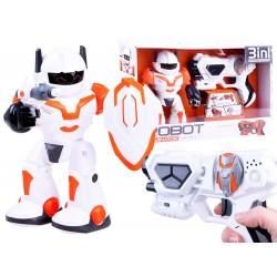 Interaktivní robot Dominator s pistolí