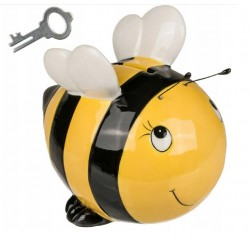 Keramická kasička včelka