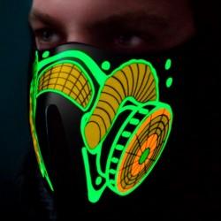 Zvukově senzitivní LED maska