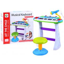 Dětský klavír se stoličkou - Musical Keyboard