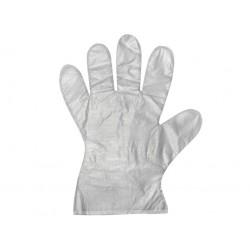 Jednorázové mikrotenové HDPE rukavice 100ks balení