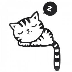 Samolepka na vypínač Kočička, 10,3x13 cm