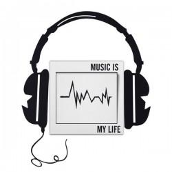 Samolepka na vypináč MUSIC IS MY LIFE