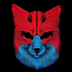Svítící maska - vlk