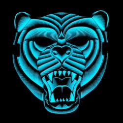 Svítící maska - tygr