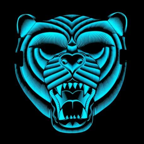 Svietiaca maska - tiger