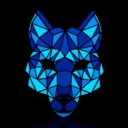 Svítící maska - pes