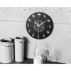 Nástěnné hodiny s chemickými prvky
