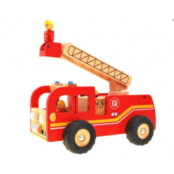 Drevené hasičské auto