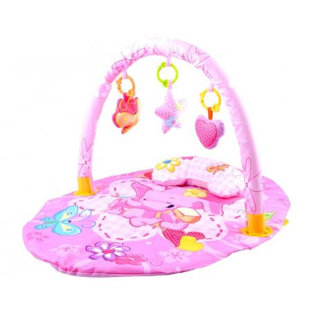 3498 Dětská růžová deka se sloníkem
