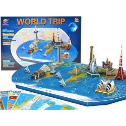 3D puzzle - World Trip - 136 prvkv