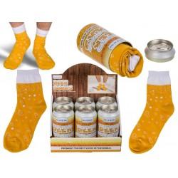 Pivné ponožky v plechovke