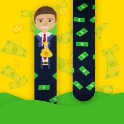 Veselé ponožky HESTY - Money maker