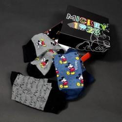 Ponožky Mickey Mouse v krabičce 3 kusy