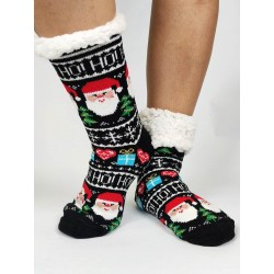 Termo dámské protiskluzové ponožky 20-01 černé Mikuláš