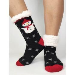 Termo dámské protiskluzové ponožky 20-01 černé Sněhulák