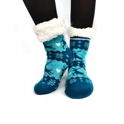 Termo dámské protiskluzové ponožky sobík modré