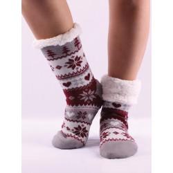 Termo dámské protiskluzové ponožky kvítek 11