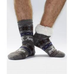 Termo pánské protiskluzové ponožky 13 Sobík šedé