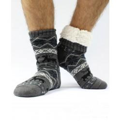 Termo pánské protiskluzové ponožky 14 sobík šedé