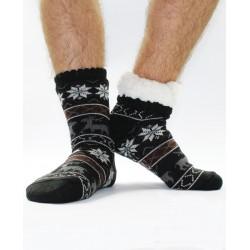 Termo pánské protiskluzové ponožky 15 sobík černé
