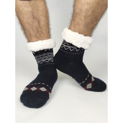 Termo pánské protiskluzové ponožky 2020-02 sobík tmavě-modrá