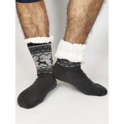 Termo pánské protiskluzové ponožky 2020-01 sobík šedé