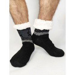 Termo pánské protiskluzové ponožky 2020-01 sobík černé