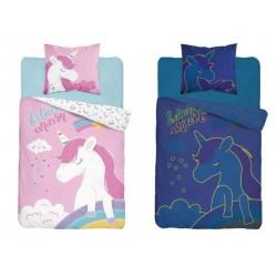 Svítící bavlněné dětské povlečení 160x200 Believe Unicorn 3347