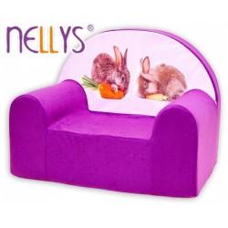 Nellys Dětské křesílko - Zajíček