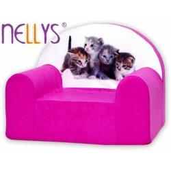 Nellys Dětské křesílko - Kočky