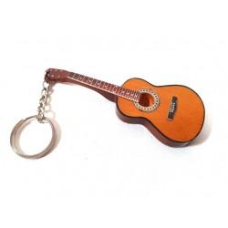 Prívesok na kľúče - hnedá gitara