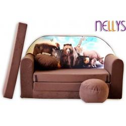Nellys Rozkládací dětská pohovka 48R