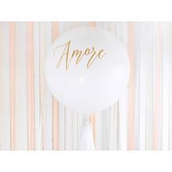 Balón - Amore, bílý - 100cm