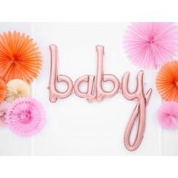 Fóliový balón - Baby, růžové zlato 73cm