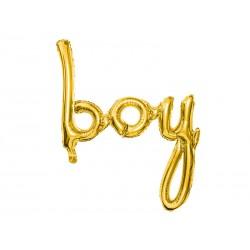 Fóliový balón - BOY, zlatý 63cm
