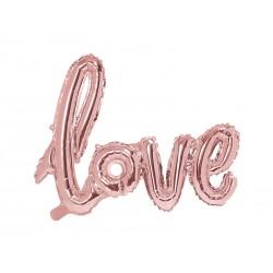 Fóliový balón - Love, růžové zlato 73x59cm