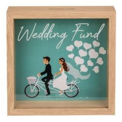 Dřevěná pokladnička - Wedding Fund